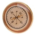 Gold Toned Plastic Round Compass Button 20.5mm (1) - Thumbnail 0