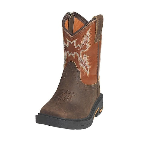 Ariat Western Boots Boys Chandler Lil Stompers Zip Brown