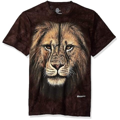 The Mountain Lion Warrior Adult T-Shirt, Purple, XL, Purple, Size X-Large