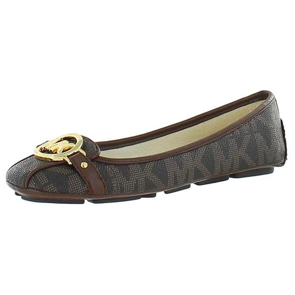 MICHAEL Michael Kors Womens Fulton Leather Closed Toe Casual Slide Sandals