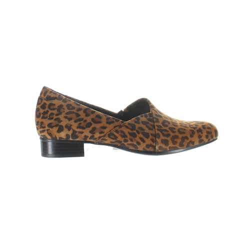 Clarks Womens Juliet Palm Animal Print Loafers Size 8