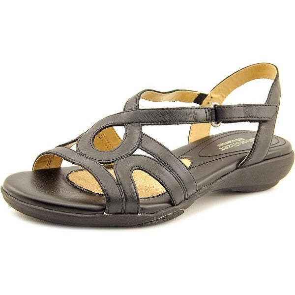 Naturalizer Catarra Women  Open-Toe Leather Black Slingback Sandal