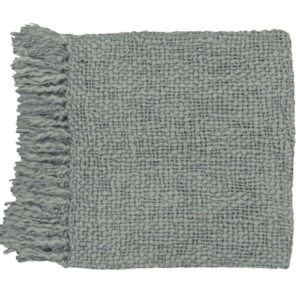 """51"""" x 71"""" Belle Vie Gray Wool Throw Blanket"""