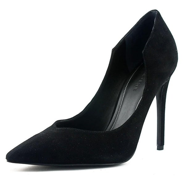 Kendall + Kylie Abi Women Pointed Toe Suede Black Heels