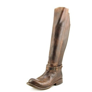 Bed Stu Bristol Women  Round Toe Leather Brown Knee High Boot