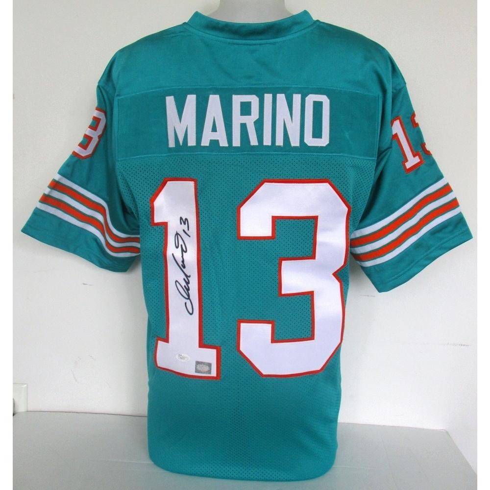 meet 8256c 3d63e Dan Marino Signed Teal Custom Pro-Style Football Jersey JSA+Marino Hologram