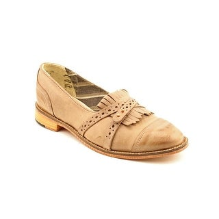 J Shoes Baroness Women Round Toe Leather Tan Loafer