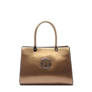 759cdedefec0 Quick View.  52.99. Style Strategy Kama Patent Leather Bag Gold