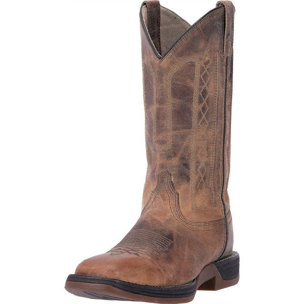 Laredo Western Boots Mens Bennett Square Leather Orthotic Brown