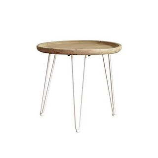 Teton Home AF-129 Wooden Side & End Table with Round Top