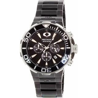 Precimax Men's Instinct Pro PX14015 Black Stainless-Steel Plated Diving Watch