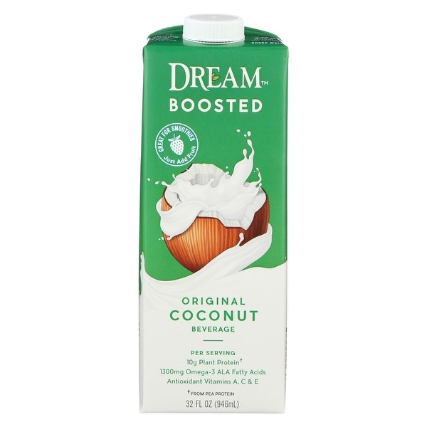 Dream Boosted Original Coconut Beverage - Case of 6 - 32 FL oz.