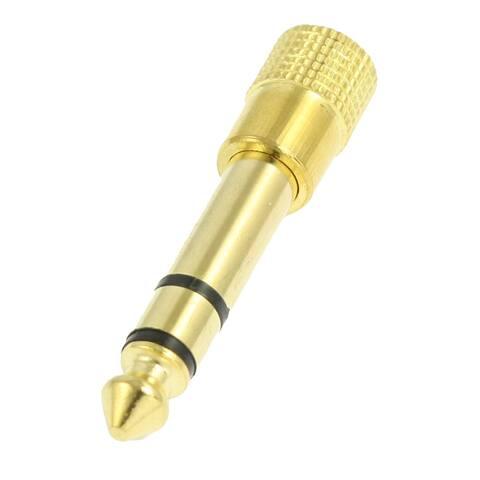 Unique Bargains Unique Bargains DC 6.35mm Male to 3.5mm Female Audio Plug Jack Convertor