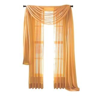 "Moshells 216"" Sheer Curtain Scarf -  Orange"