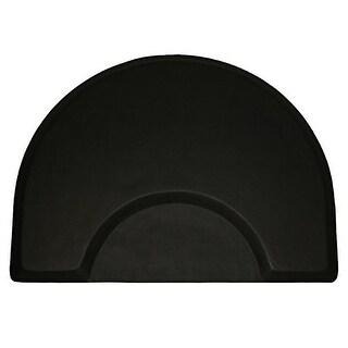 LCL Beauty 1-inch Thick 48 x 36-inch Half-Round Anti-Fatigue Salon Floor Mat