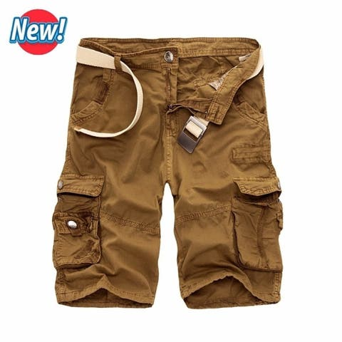 Men Cargo Shorts Casual Loose Short Pants Camouflage Military Summer Style Knee Length Plus Size 10 Colors Shorts Men