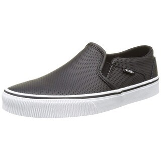 Vans Women's Asher Trainers, Black(Black(Perf Leather)), 6 Uk 39 Eu