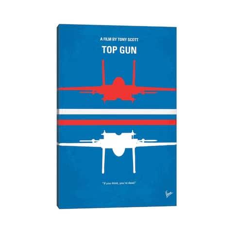 """iCanvas """"Top Gun Minimal Movie Poster"""" by Chungkong Canvas Print"""