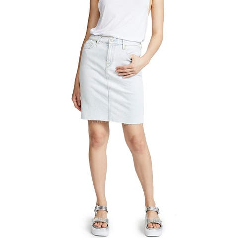7 For All Mankind Women's Pencil Skirt, Cloud Bleach Out, 28