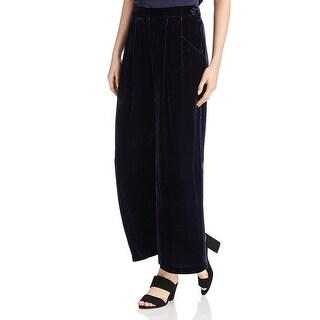Eileen Fisher Womens VLVT WIDE LEG PANT Ankle Pants Velvet Wide Leg