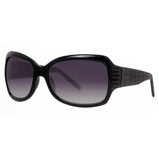 Kenneth Cole Reaction KC1060 000B5 Women's Black Smoke Grey Oversized Sunglasses - 61mm-16mm-125mm