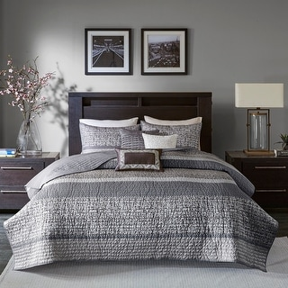 Link to Madison Park Melody Grey/ Taupe Quilted Coverlet Set Similar Items in Duvet Covers & Sets