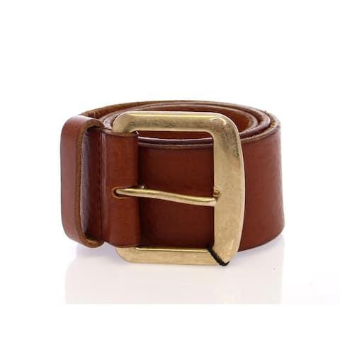 Dolce & Gabbana Brown Leather Logo Women's Belt