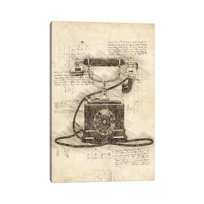 "iCanvas ""Old Telephone"" by Cornel Vlad Canvas Print"