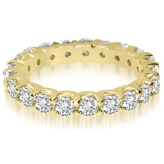 14K Yellow Gold 2.00 cttw. Round Shared Prong Diamond Eternity Ring HI,SI1-2