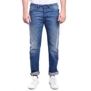Diesel Buster Men's Regular Slim-Tapered Denim Jeans 0663D