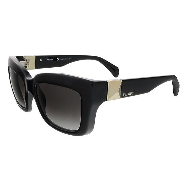 Valentino V692S 001 Black Rectangular Valentino Sunglasses - 53-19-135