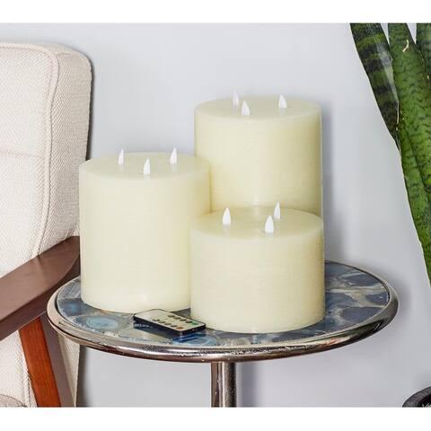Porch & Den Merrie Lynn Modern LED Candles (Set of 3)