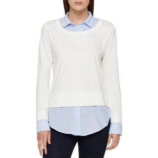 Tommy Hilfiger Womens Pullover Sweater Knit Layered