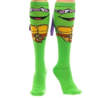 Teenage Mutant Ninja Turtles Donatello w/ Mask Women's Knee High Socks - Green