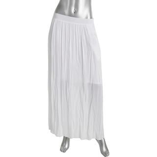 Pure DKNY Womens Maxi Skirt Long Sheer