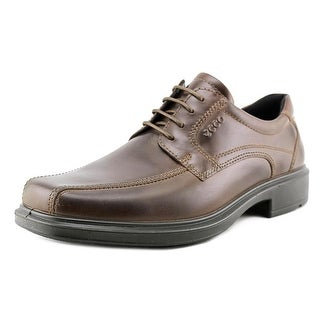 Ecco Biom Hybrid Men Round Toe Leather Brown Golf Shoe