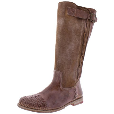 Bed Stu Womens Endless Riding Boots Distressed Leather - Tan