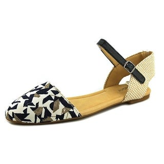 Lucky Brand Abbee Women Pointed Toe Canvas Multi Color Flats