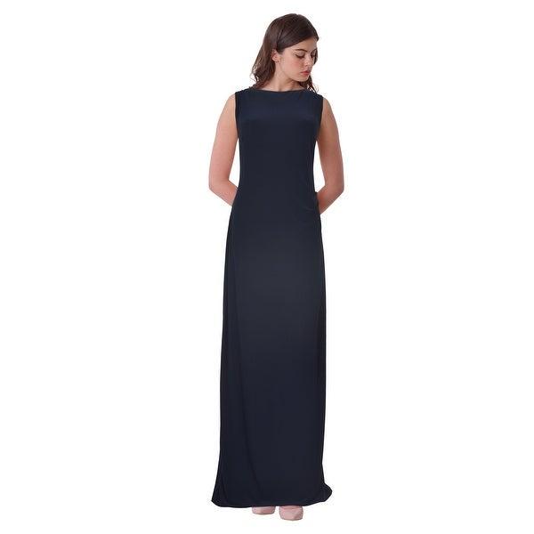 Shop Lauren Ralph Lauren Sequin Draped Back Jersey Evening Gown ...