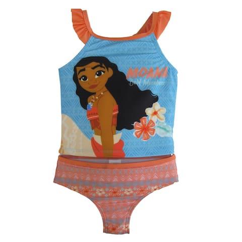 Disney Little Girls Blue Moana 2Pc Swimsuit