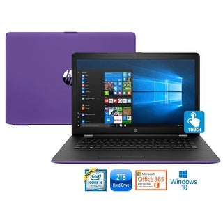 "HP 17-bs023 Intel Core i5-7200 2TB HDD 17.3"" Touch Screen Laptop w/MS Office 365 (Refurbished) - Purple"