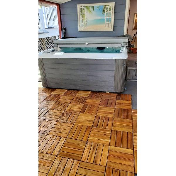 Bare Decor Ez Floor Solid Teak Wood
