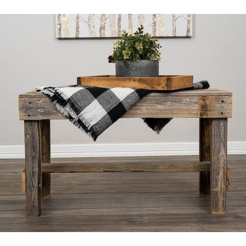 Del Hutson Designs Handmade Barnwood Bench