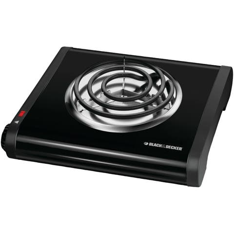 Black & Decker SB1001B Single Burner Portable Buffet Range, Black