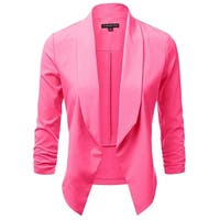 Michel Bright Pink Womens Size Medium M Open Front Flyaway Jacket
