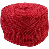 "Jute Ribbon 4""X10yd-Red - Red"
