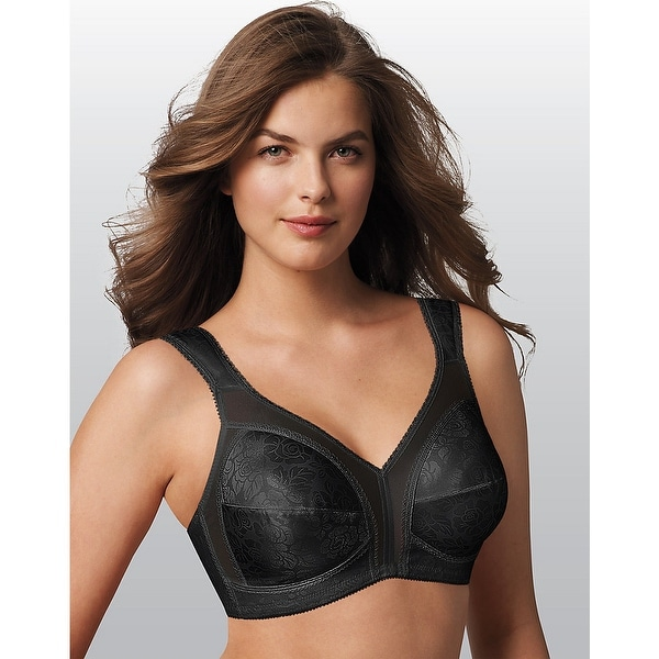 9dcc357e30522 Shop Playtex 18 Hour Original Comfort Strap® Wirefree Bra - Size - 50C -  Color - Black - Free Shipping On Orders Over  45 - Overstock - 13919665