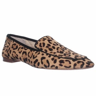Vince Camuto Eliss Slip-On Loafer Flats, Tan/black