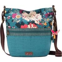 Sakroots Women's Artist Circle Soft Bucket Teal Flower Power - US Women's One Size (Size None)