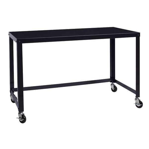 Carbon Loft Laennec Black Steel Industrial Rolling Desk. Opens flyout.